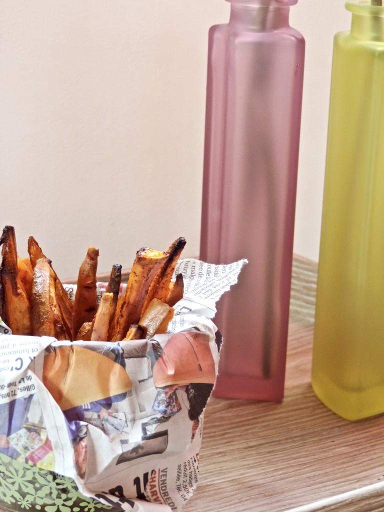 Frites de patate douce au paprika